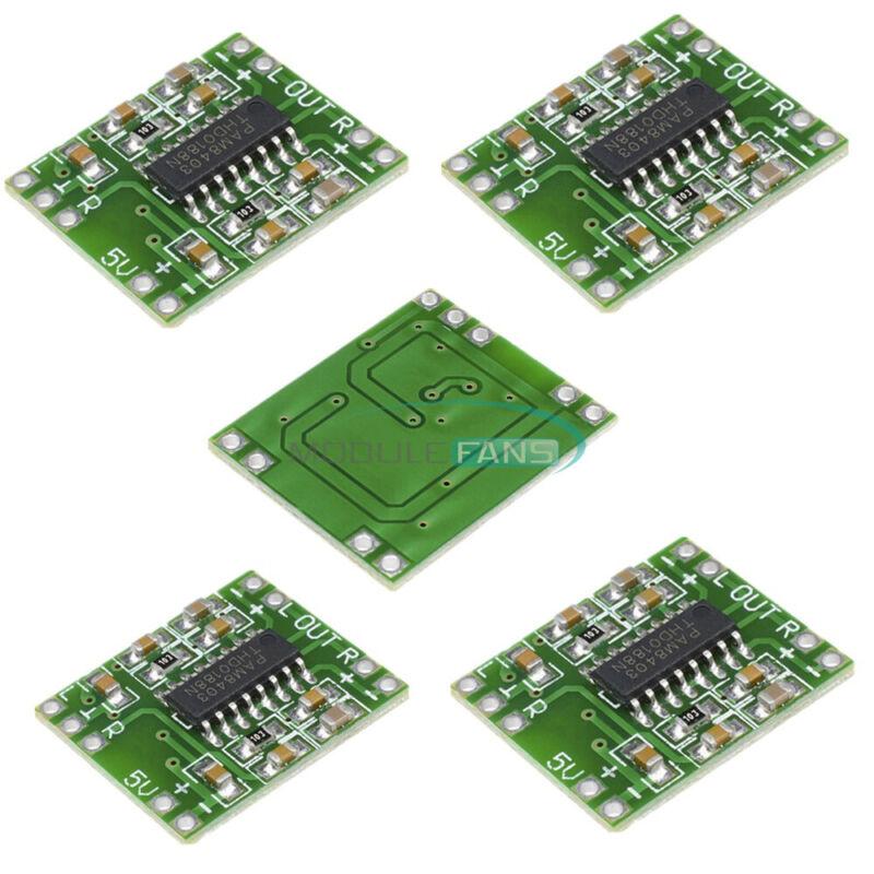 5PCS Digital Amplifier Board Class D 2*3W USB Power Mini PAM8403 Audio Module