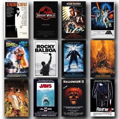 Styles Of 80's Classic Movies 24x36inch Silk Poster Art Print Door Wall Decor - 80s Decorating Style
