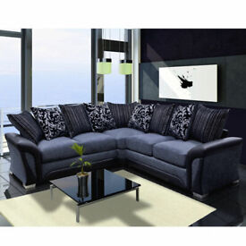 SALE ONLINE-SHANNON SOFA FABRIC And FAUX LEATHER LEFT OR RIGHT CORNER - 3+2 SEATER