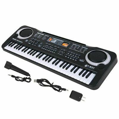 61 Key Digital Music Electronic Keyboard Kids Gift Electric Piano Organs w/ Mic