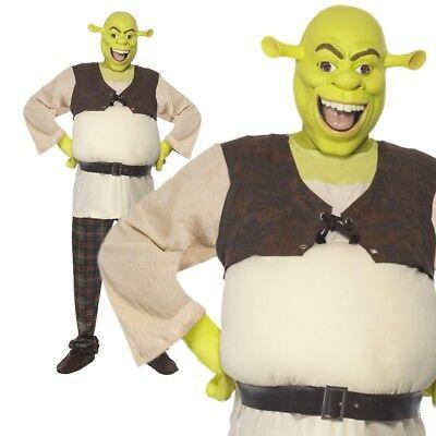 Erwachsene Herren Shrek Ungeheuer Kostüm Halloween Welt-Buch-Tag-Kostüm + - Shrek Kostüm Halloween