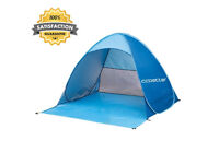 Outdoor Automatic Pop up Beach Tent, Blue