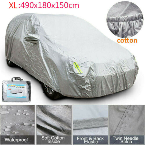 Car Parts - All Weather Heavy Duty Car Rain Cover 2Layer Waterproof Cotton Lined XLarge Size