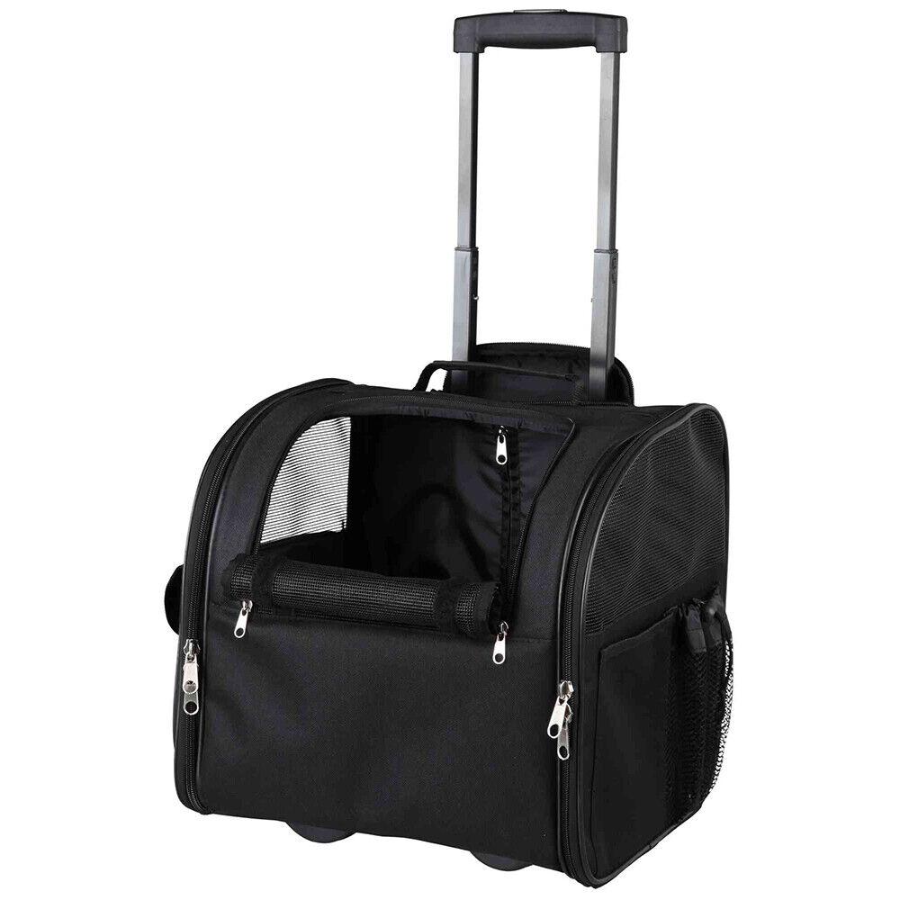Trixie Transport Trolley Fero Hunde Transportbox Tasche 37 × 36 × 28 cm schwarz