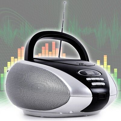 CD Player tragbar Radio Anlage Lautsprecher Stereoanlage Musik Spieler AUX-IN