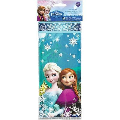 FROZEN ELSA & ANNA PARTY FAVOR TREAT BAGS 4X9.5 INCHES WITH TIES 16 BAGS