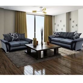 NEW AMAZING ---- SHANNON 3 AND 2 SEATER SOFA OR CORNER SOFA SET - SWIVEL CHAIR -