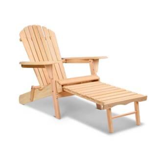 Adirondack Chair & Ottoman Set