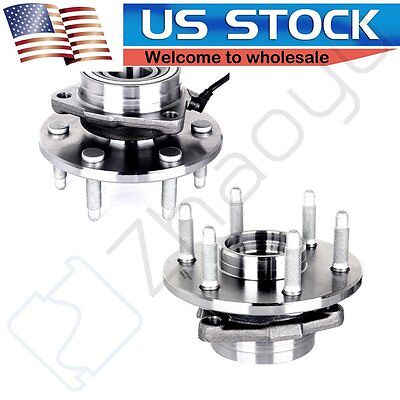 2 New Complete Front Wheel Hub Bearing Assembly Pair/Set For Left and Right