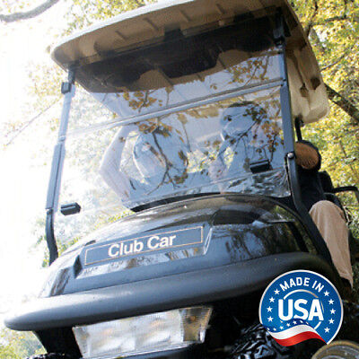 Club Car Precedent Clear Impact Resistant Folding Golf Cart Windshield - US Made