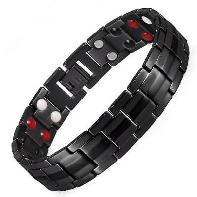 44 Mag Strong Titanium Magnetic Bracelet 4 elements balance energy pain relief (Titanium Strong)