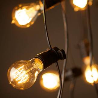 Event Prop Hire - Vintage Styling - Weddings - Festoon Lights Noranda Bayswater Area Preview