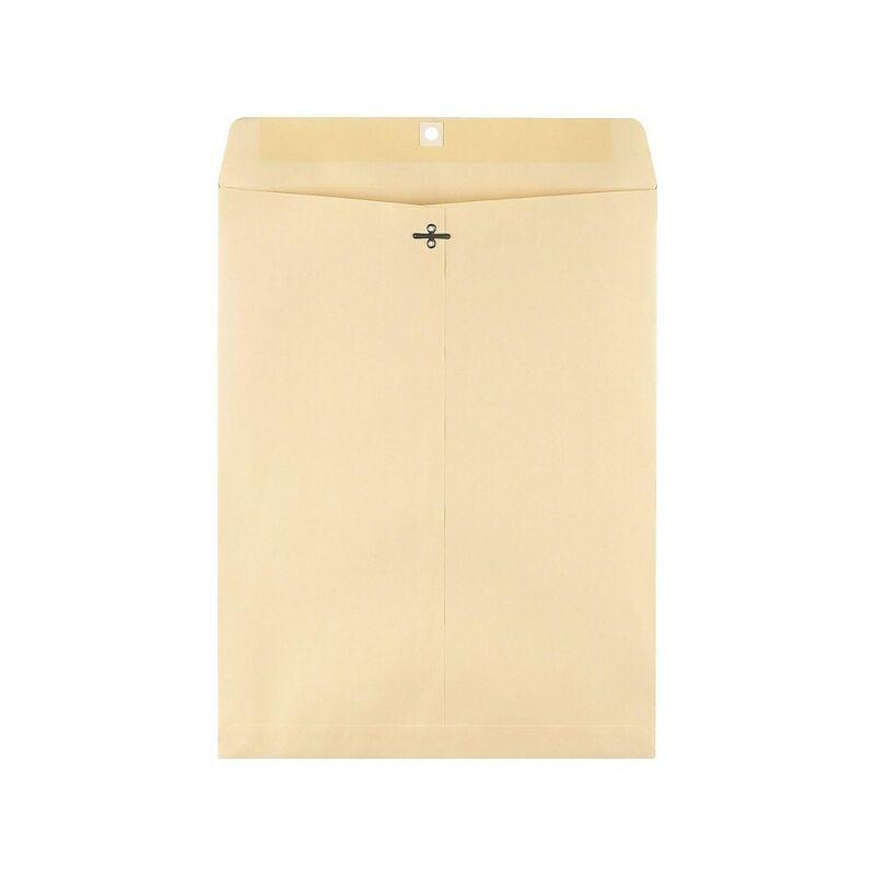 "Staples Clasp Extra-Heavyweight Envelopes 12"" x 15-1/2"" Manila 100/BX 122150"