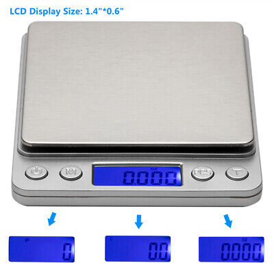 0.1g-3000g Jewelry Kitchen Digital LCD Electronic Balance Food Weight Gram Scale