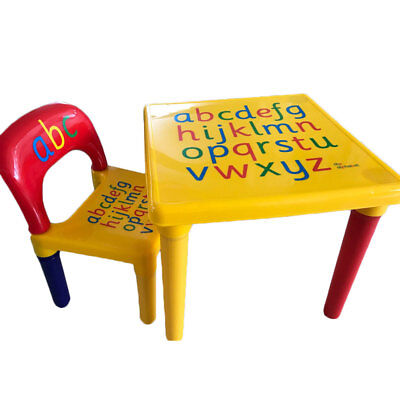 Kids Plastic Table and Chair Play Set Toddler Activity Furniture Vibrant - Children's Activity Table