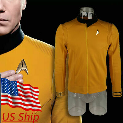 Star Trek Discovery Season 2 Starfleet Captain Pike Shirt Uniform Costumes Badge - Star Trek 2 Uniform