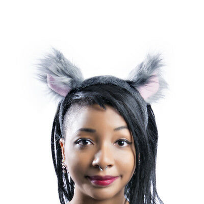 PAWSTAR Mouse Ears Headband - Furry Costume Gray Round Bear lion - Lion Ears Headband
