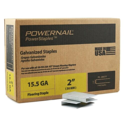 "Powernail 15.5 Ga. 2"" PowerStaples (case of 7,700)"