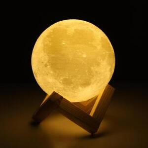 Save 60% Rechargeable 3D Print Moon Lamp 2 Color Change (We Pay Shipping )