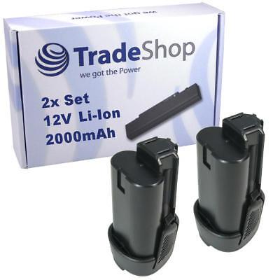 2x Hochleistungs AKKU 12V 2000mAh Li-Ion für Ryobi R12DD-L13S R12DD-LL13S