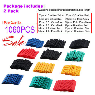 1060pcs Heat Shrink Tubing Insulation Shrinkable Tube 21 Wire Cable Sleeve New