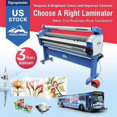 Us Stock 110v 63 Full-auto Wide Format Cold Roll Laminator With Heat Assisted