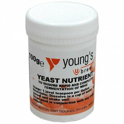 Yeast Nutrient for home brew wine and beer making. 2 x 100g...
