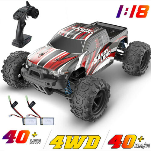 DEERC RC Monster Truck Car 1:18 Scale 4WD 2.4Ghz Off-road Re