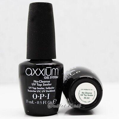 OPI Axxium Gel NO Cleanse UV Top Sealer Black Bottle Coat 15ml 0.5oz AX 212 Top Gel Sealer