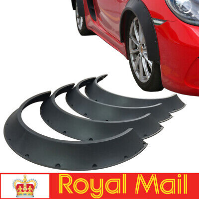 4Pcs ABS Fender Flares New School Wheel Arches Extension 80cm Length Universal