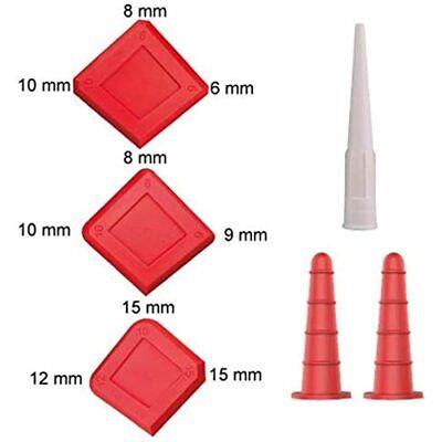Silicone Sealant Caulking Profiling Tool 16 Pcs Kit, Saver Cap, Silicone Nozzle,