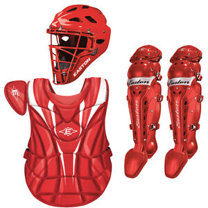 Easton Mystique Girls Youth Softball Catcher's Gear Package - Red