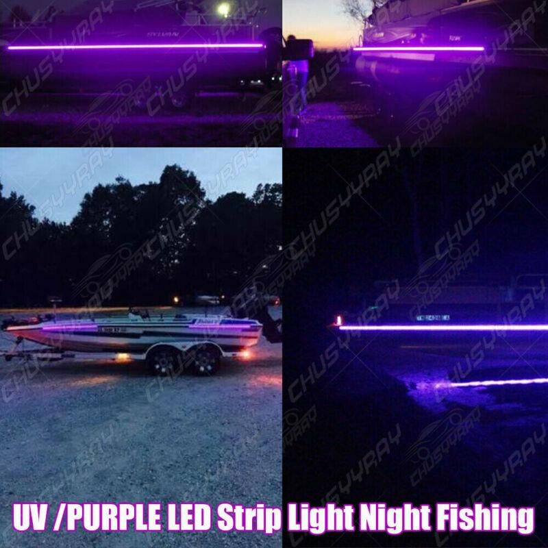LED Black Light Night Fishing LED Strip UV Ultraviolet boat bass fishing 12v