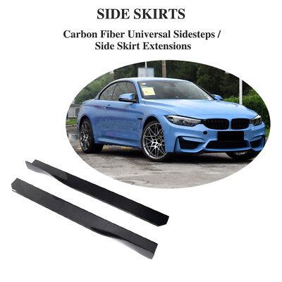 Carbon Fiber Side Skirts Extensions Lip For BMW F80 F82 M3 M4 G30 F30 F06 M6