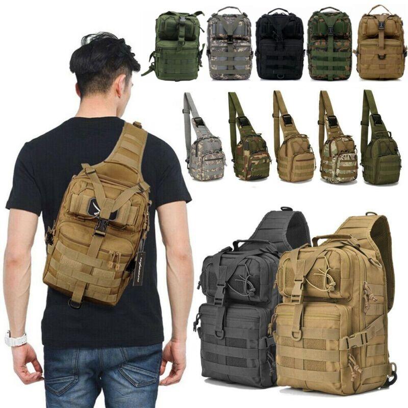 Tactical Backpack Military Shoulder Crossbody Bag Hiking Camping Army Rucksack