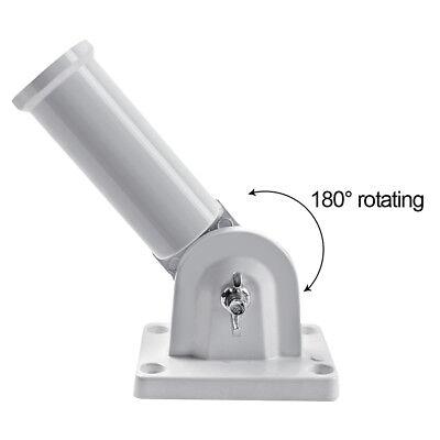 180° Adjustable Wall Mount Flag Pole Holder Metal Bracket For Flag Windsock 30mm