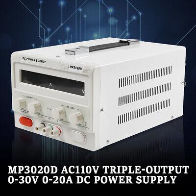 Mp3020d Linear Adjustable Dc Power Supply Regulated Variable 0-30v 0-20a Ac110v