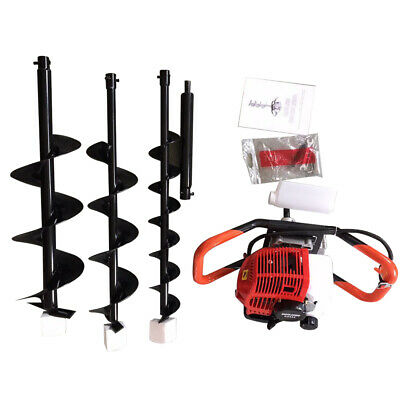 52cc Post Hole Digger Gas Powered Earth Auger Borer Machine W3 Auger Drill Bits