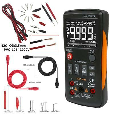 With Analog Bar Graph Ncv Acdc Rm409b True-rms Digital Multimeter 9999 Counts.