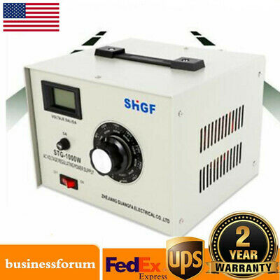Variac Auto Transformer Ac Variable Voltage Regulator Metered 1000w 0-300v Usa
