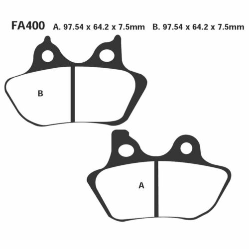 Pair Pads EBC Hh 4PISTONC. FA400HH Harley 883 XL Sportster