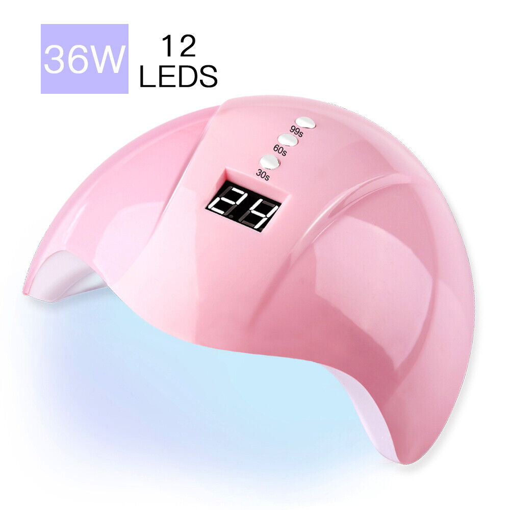 36W LED UV Nail Polish Dryer Lamp Gel Acrylic Curing Light Spa Professional Kit Health & Beauty