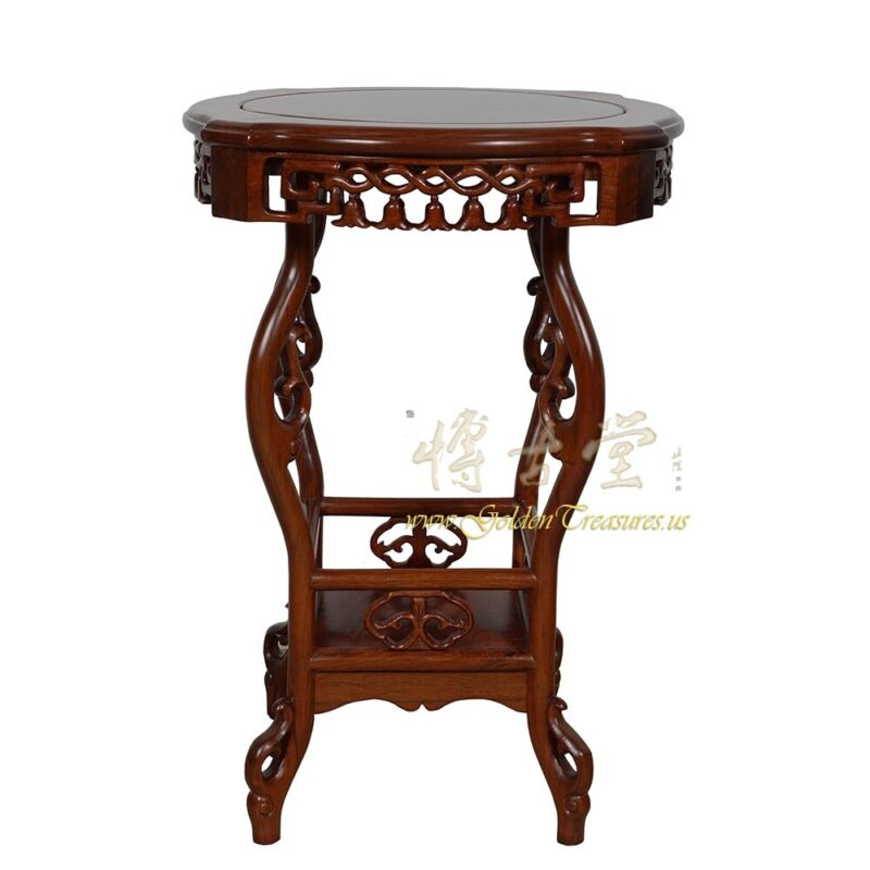 Vintage Chinese Rosewood Pedestal Table/Plant Stand