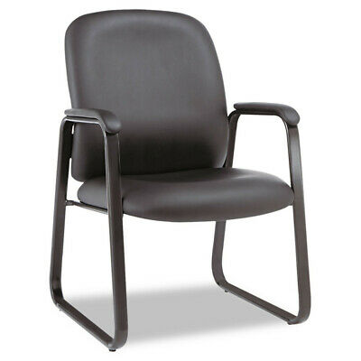 Alera Alera Genaro Series Guest Chair Black Leather Sled Base Ge43ls10b New