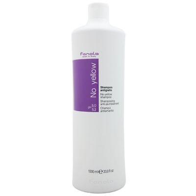 Fanola No Yellow Shampoo gegen Gelbstich graues und blondes Haar 1000 ml