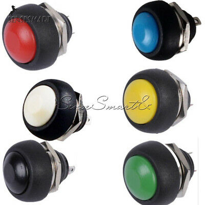 6pcs Mini Switch 12mm Waterproof Momentary Push Button Offon Schalter 250v 10a