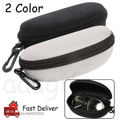 Glasses Case Box Sunglass Protector Travel Hard Eyeglass Zipper with Belt (Sunglasses Belt Case)