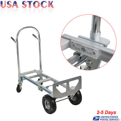 770lb Heavy Duty Stair Climbing Moving Dolly Hand Truck Warehouse Cart 4 Wheels