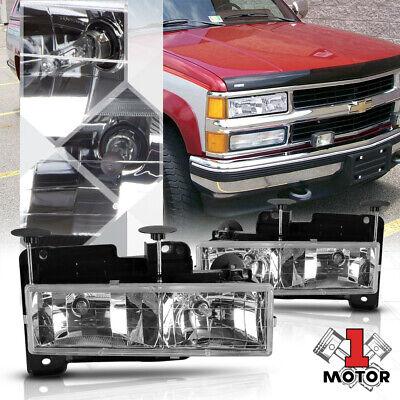 Chrome Housing Headlight for 88-98 Chevy C10 C/K GMT400 Pickup Truck 1500/2500