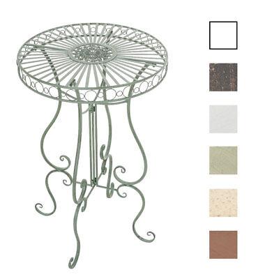 Tisch SHIVA Gartentisch Stehtisch Metalltisch Eisen Terassentisch Shabby Chic